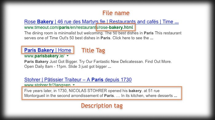 some meta tags will show in search results